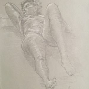 Nude Art Study on Perspective